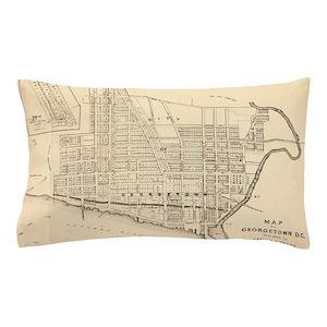 Dc Subway Map Pillow.Pillow Case