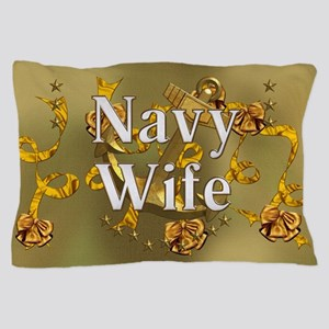 Harvest Moons Navy Wife Pillow Case