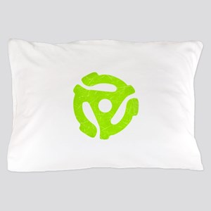Lime Green Distressed 45 RPM Adapter Pillow Case