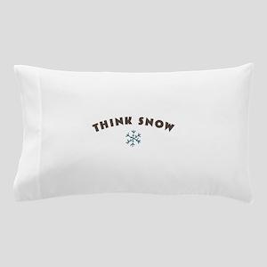 Think Snow Pillow Case