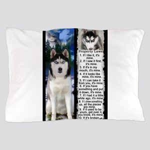 Siberian Husky Dog Laws Rules Pillow Case