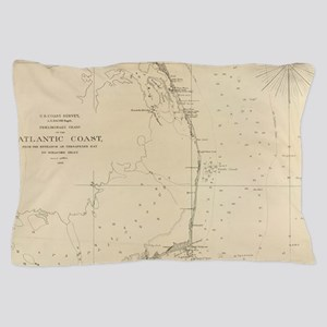 Vintage North Carolina and Virginia Co Pillow Case