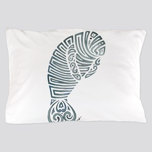 Tribal Manatee Pillow Case