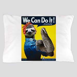 Rosie the Riveter Sloth Pillow Case