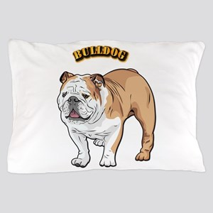 bulldog with text Pillow Case