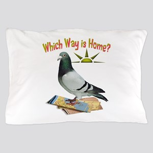 Which Way Is Home? Fun Lost Pigeon Art Pillow Case