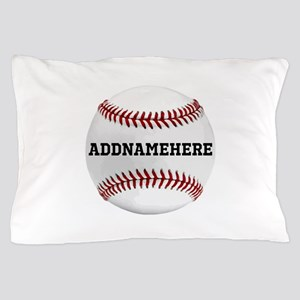 Personalized Baseball Red/White Pillow Case