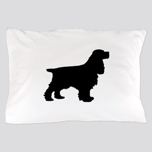Cocker Spaniel Black Pillow Case