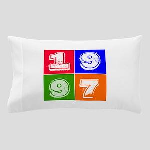 1997 Birthday Designs Pillow Case