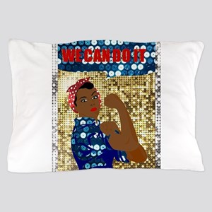 african rosie the riveter Pillow Case