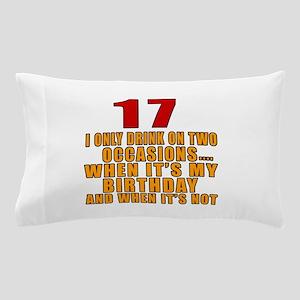 17 birthday Designs Pillow Case