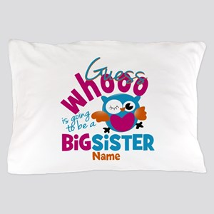 Personalized Big Sister - Owl Pillow Case