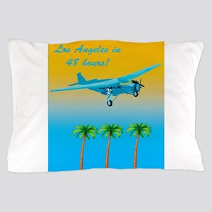 Air Travel Vintage Style Pillow Case