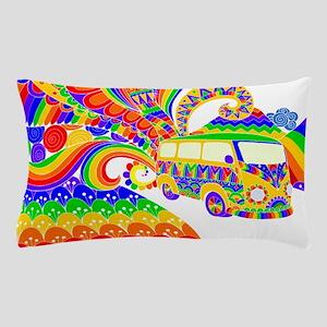 Retro Rainbow Hippie Van Pillow Case