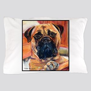 Red Bullmastiff on Fence Pillow Case