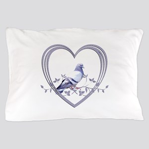 Pigeon in Heart Pillow Case