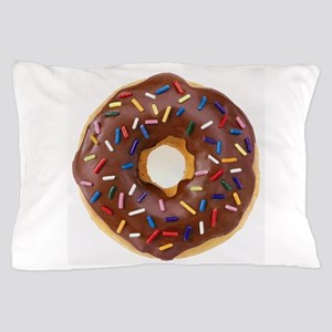 Frosted donut with sprinkles Pillow Case