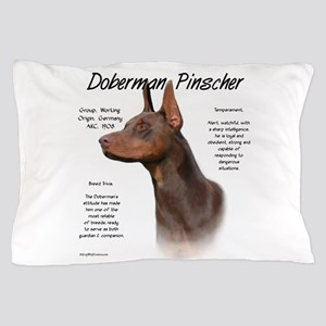 Doberman (red) Pillow Case