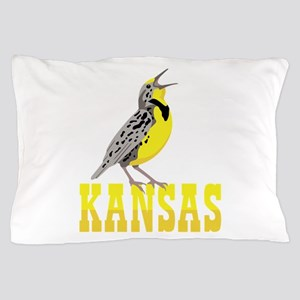 KANSAS Meadowlark Pillow Case