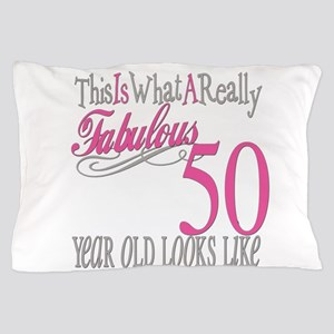 50th Birthday Gifts Pillow Case
