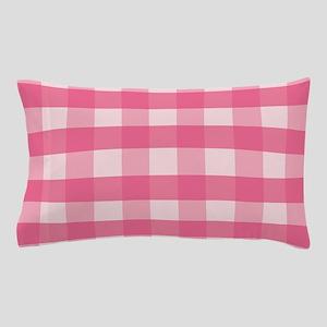 Gingham Checks Pink Pillow Case