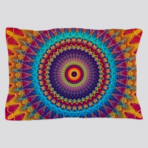 Fire and Ice mandala Pillow Case