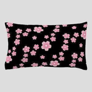Cherry Blossoms Black Pattern Pillow Case