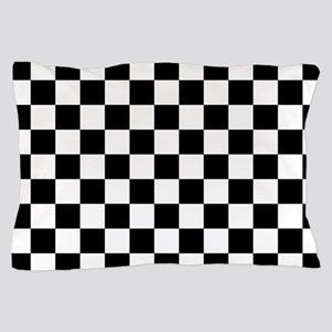 BLACK AND WHITE Checkered Pattern Pillow Case