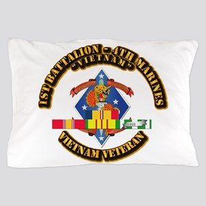 1st Bn - 4th Marines w VN SVC Ribbon Pillow Case