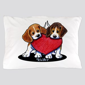 Beagle Heartfelt Duo Pillow Case