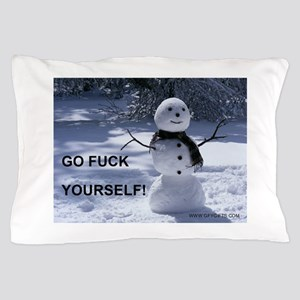 Snowman GFY Pillow Case