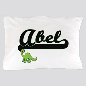 Abel Classic Name Design with Dinosaur Pillow Case