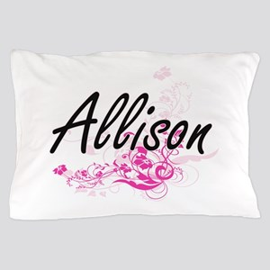 Allison Artistic Name Design with Flow Pillow Case