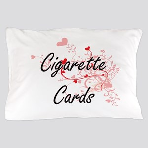 Cigarette Cards Artistic Design with H Pillow Case