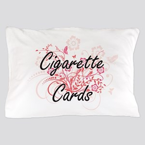 Cigarette Cards Artistic Design with F Pillow Case