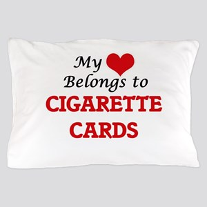 My heart belongs to Cigarette Cards Pillow Case