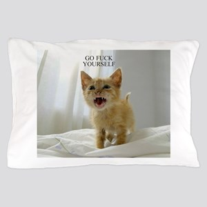 Early Morning Kitty Pillow Case