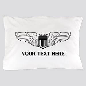 PERSONALIZED PILOT WINGS Pillow Case