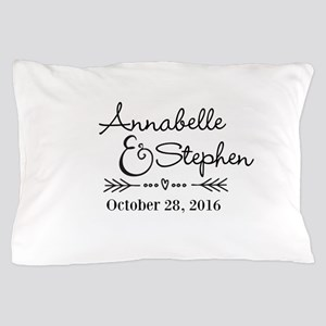Couples Names Wedding Personalized Pillow Case