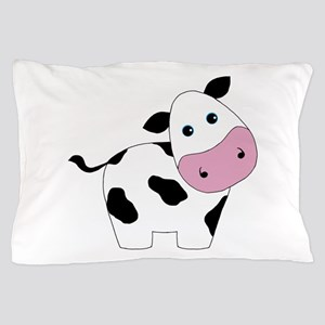Cute Black and White Cow Pillow Case