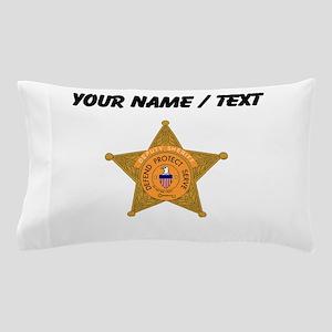 Deputy Sheriff Badge (Custom) Pillow Case