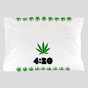 4:20 Weed Leaf shirt Pillow Case