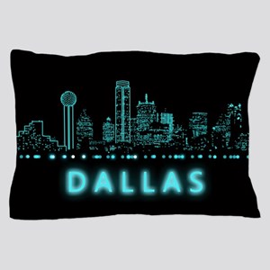Digital Cityscape: Dallas, Texas Pillow Case