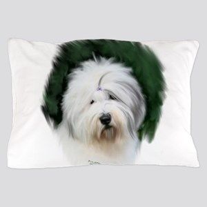 old english sheepdog portrait Pillow Case