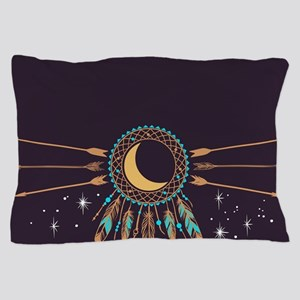Dreamcatcher Moon Pillow Case
