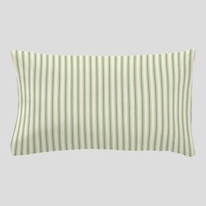 Green Ticking Pillow Case
