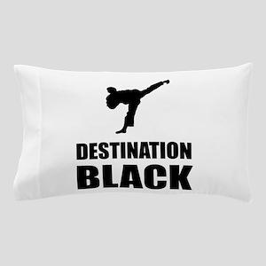 Destination Black Pillow Case