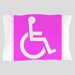Handicapped Disabled Female Woman Pillow Case