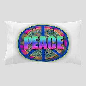 PEACE - Psychadelic Rainbow Pillow Case
