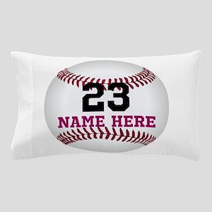 Baseball Player Name Number Pillow Case